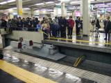発車20分前の梅田駅は既に撮影者でいっぱい