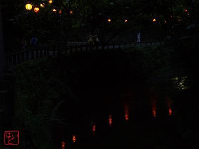 箕面川と提灯