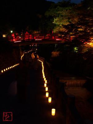 赤い橋とキャンドルライト