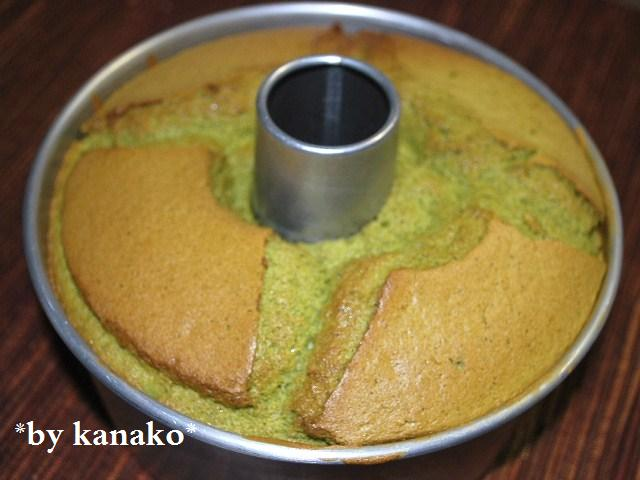 抹茶シフォンケーキ1