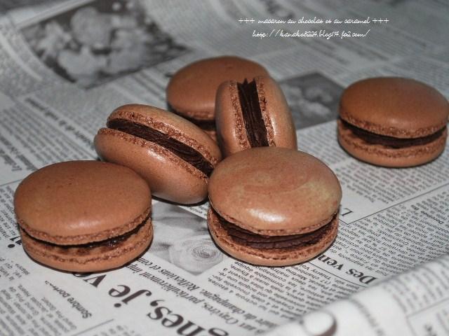 ●●●チョコレートとキャラメルのマカロン9