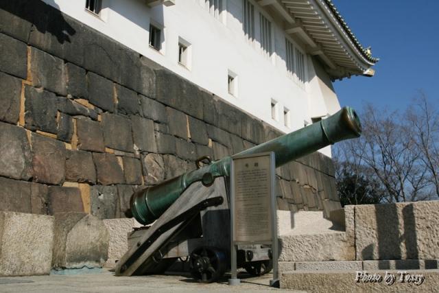 天守台の大砲
