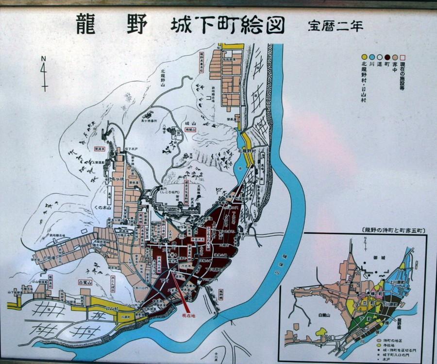 龍野城城下絵図