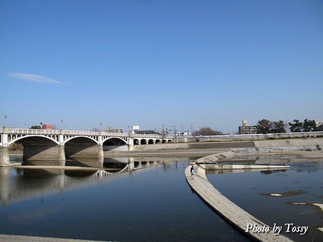 武庫川 洗い堰