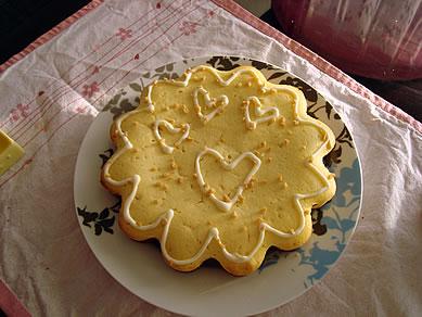 レモンとショコラのケーキ