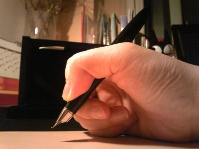 英雄书法钢笔