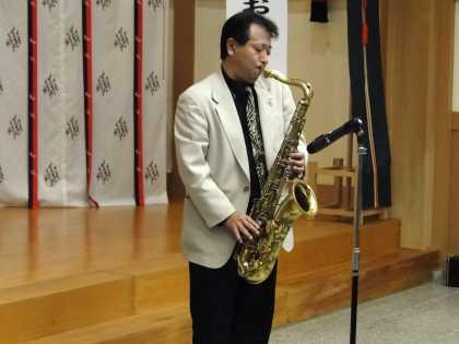 佐々木善隆さんによるサックス演奏