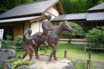 芭蕉と曽良のブロンズ像