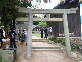 春日神社の境内に歌舞伎場があります