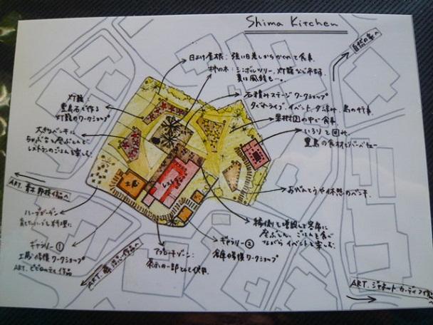 島キッチンの概念図です