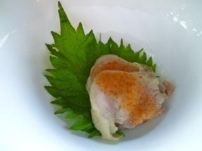 前菜です 豚肉に美味しいソースです