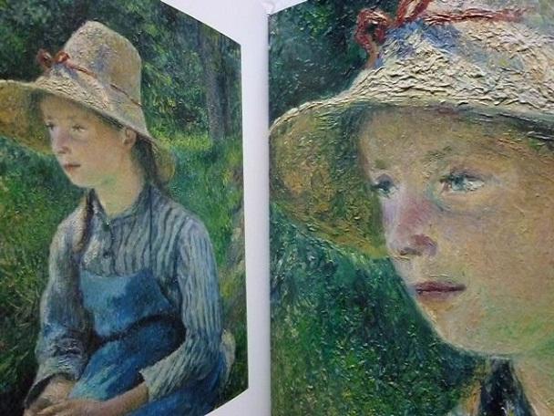 ピサロ〈麦わら帽子をかぶる農家の少女〉