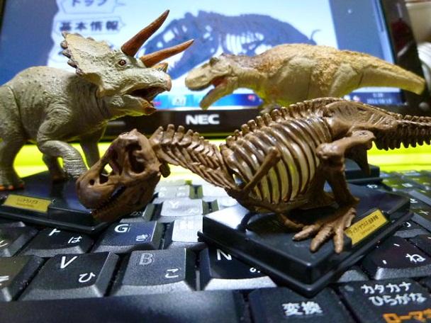 ティラノサウルスの背には羽毛が生えています