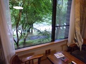 窓から奥入瀬渓流が見える,ちょっといい部屋です