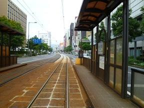 路面電車も愛媛県庁前でした