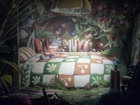 アリエッティの部屋のイメージボードです 記念写真ポイントです