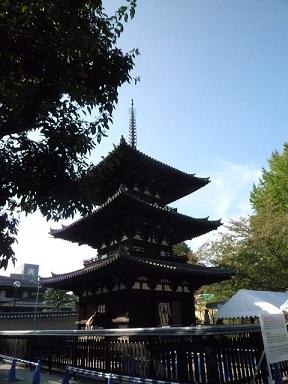 寺内最古の建物が三重塔なんです