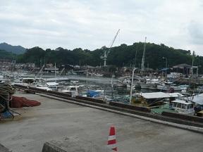 三津の港に来ました