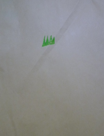 芝生のマーク? のハンコの押し封筒に入れてくれました