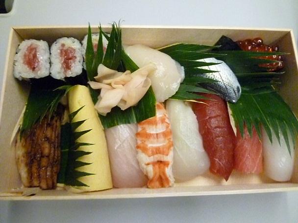 なんと美しいお寿司でしょう