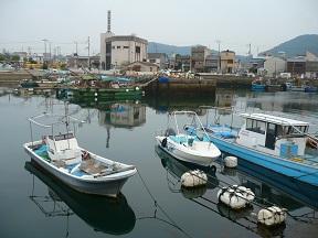 港の町です