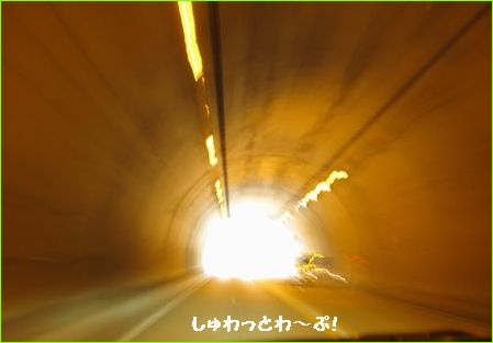トンネルはワープしてるみたいで好きだな・・