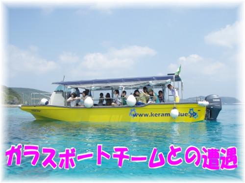① ガラスボートとの遭遇