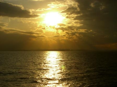 君津沖の夕日