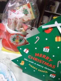 クリスマスの贈り物お菓子