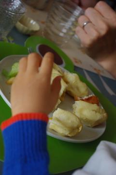 ハロウィーンパン食べる