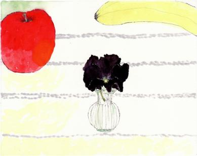 果実とパンジー