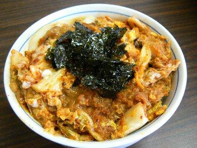 キムチカツ丼5