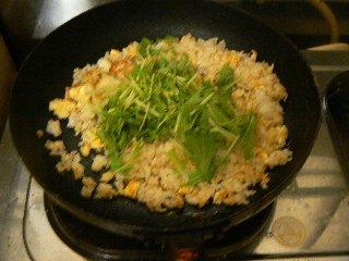 水菜炒飯②