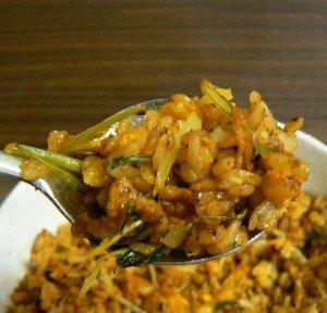 水菜炒飯⑦