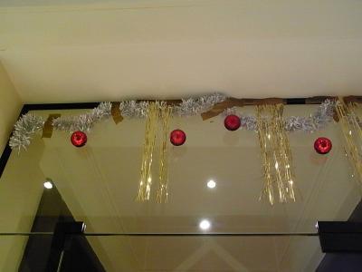 アパートのクリスマス飾り