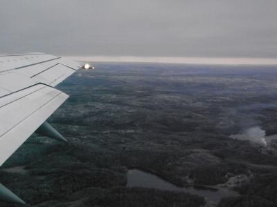 飛行機から4