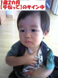 1歳2カ月ヘルプ