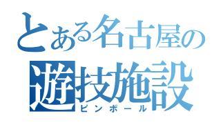 とある名古屋の遊技施設(ピンボール)