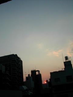 三月の夕焼け