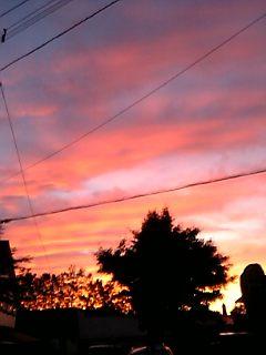2006年7月4日の夕焼け