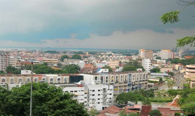 風景 ブキッチナからマラッカ市街地