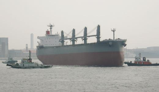 ばら積運搬船サニーロイヤルの進水式に出くわす-4