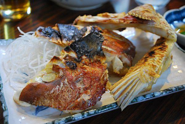 鯛のアラ焼