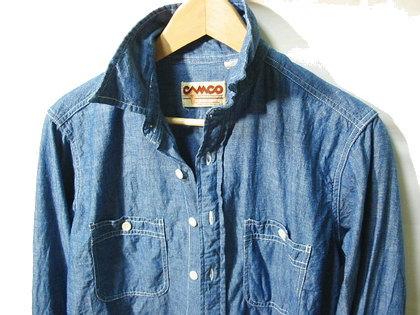 CAMCO(カムコ)のシャンブレーシャツ。