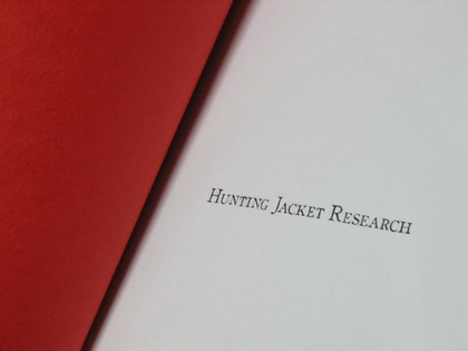 「.......RESEARCH」の「HUNTING JACKET RESEARCH」。