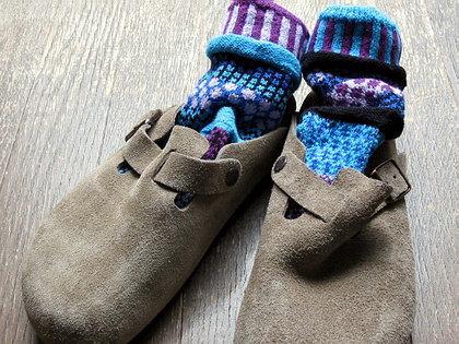 solmate socksとビルケンのBOSTON。