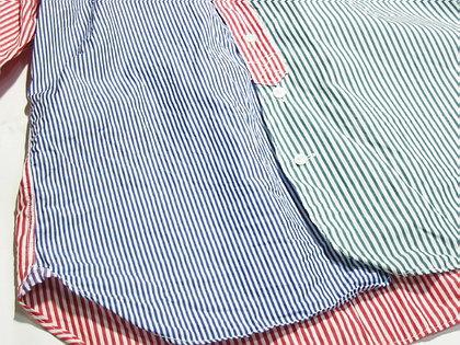 unus entil(ユーナス エンティル)のクレイジーパターンなストライプシャツ。