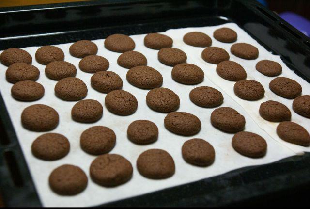 チョコレートアモンドクッキー②