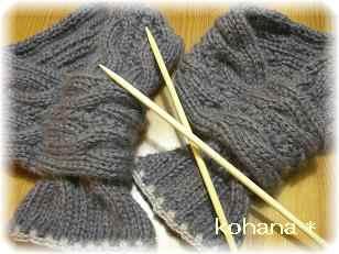 縄編みマフラー 1