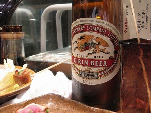 笹丘大将のラガーは大瓶で600円。 安い!